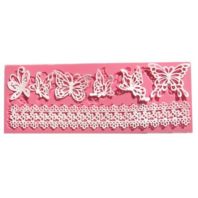 silueta fluture fondant mucegai dantelă tort de nunta decorare instrumente