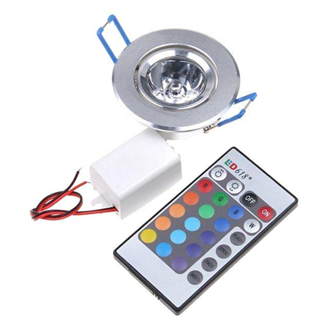 jiawen 3w rgb led lumina plafonului încastrat retrofit 1 LED-uri integrate led controlate de la distanță rgb ac 85-265v
