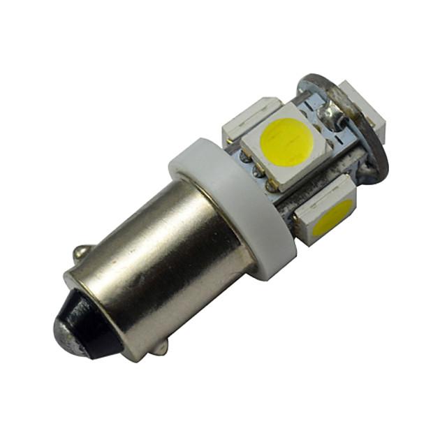 1pc 1w ba9s светодиодная лампа для автомобиля 5 smd 5050 теплая холодная лампочка 12v dc