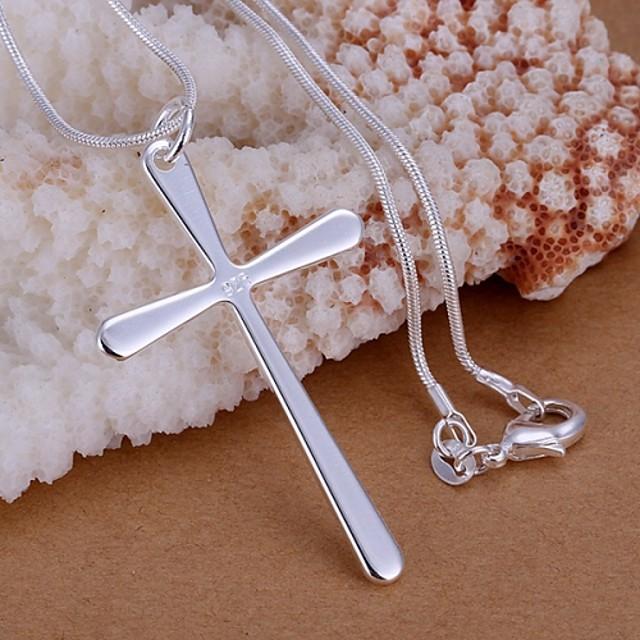 Pentru femei Coliere cu Pandativ Σταυρός femei De Bază stil minimalist Plastic Coliere Bijuterii 1 buc Pentru Nuntă Petrecere Cadou Zilnic Casual