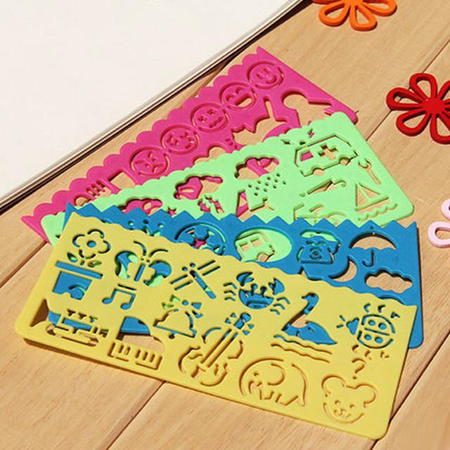riglă de desen ușor pentru copii (culori aleatorii)
