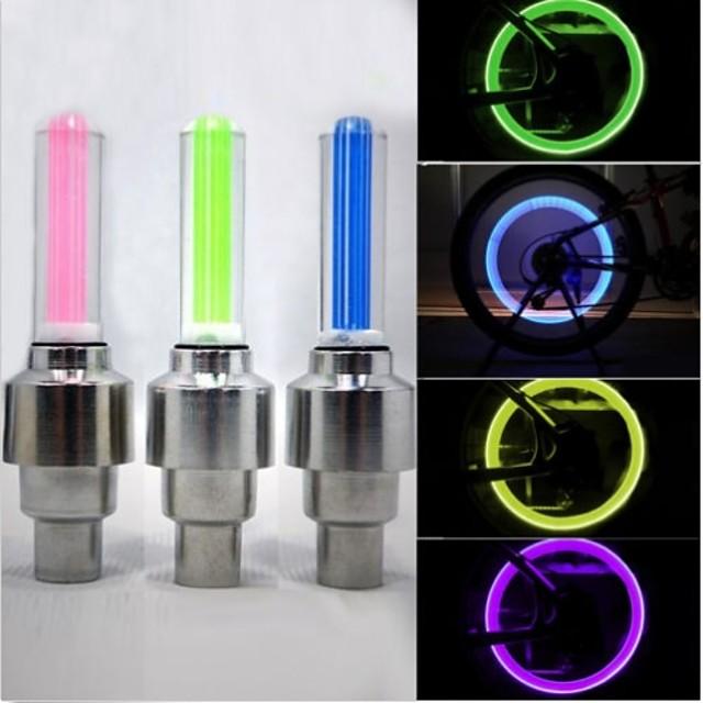 LED Eclairage de Velo Eclairage de Vélo / bicyclette Capots de feux clignotants Éclairage pour roues de vélo - VTT Vélo tout terrain Vélo Cyclisme Imperméable 50 lm Batterie Cyclisme / ABS / IPX-4