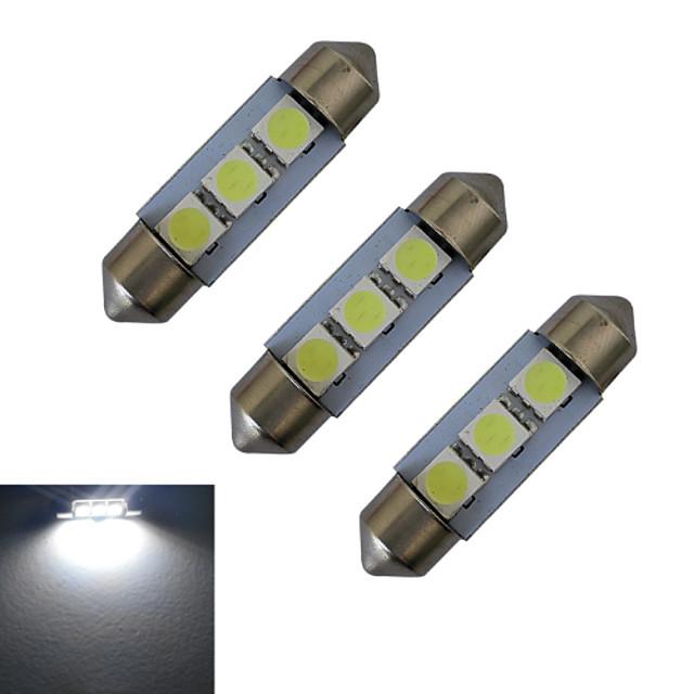 3шт 1 W Декоративное освещение 60 lm Фестон 3 Светодиодные бусины SMD 5050 Холодный белый 12 V / 3 шт.