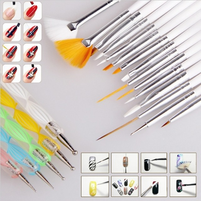 Păr sintetic / Plastic / Oțel Unelte pentru unghii Perie acrilă pentru unghii Pentru Unghie Unghie deget picior nail art pedichiura si manichiura Clasic Zilnic / Perii