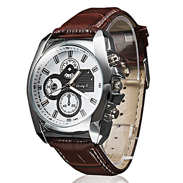 Bărbați Ceas de Mână Aviation Watch Quartz Piele PU Matlasată Negru / Maro Ceas Casual Analog Clasic Casual extravagant - Negru Maro