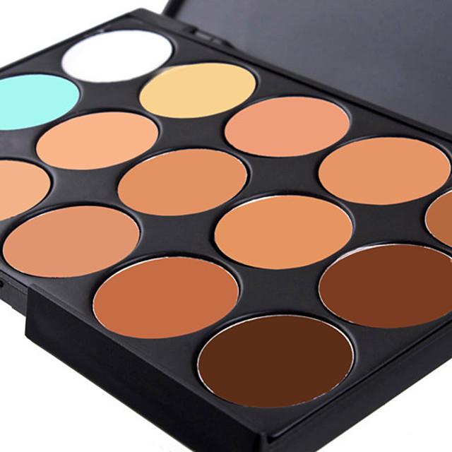 15 Culori Anticearcăn Khaki Concealer / contur 1 pcs Uscat / Ud / Mat Respirabil / Albire / Uscare Rapidă Corp / Faţă Machiaj Cosmetic