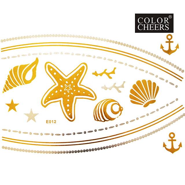 1Pc Long Bracelet And Necklace Tattoo Sticker 23x15CM
