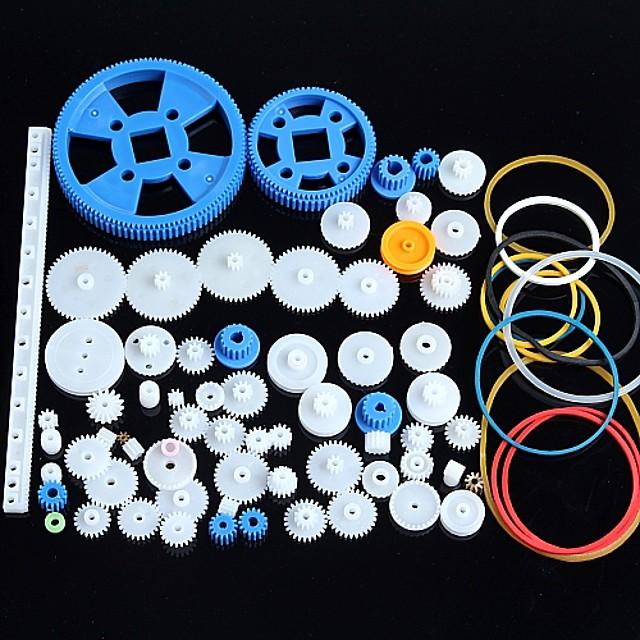 80 de tipuri de plastic de viteze motoreductor pachet cutie de viteze accesorii robot de kit