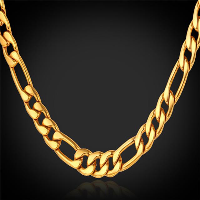 Pentru femei Lănțișoare Figaro lanț chunky femei Modă Dubai Placat Auriu Aur Alb Umplute cu Aur Auriu Coliere Bijuterii Pentru Cadouri de Crăciun Nuntă Petrecere Ocazie specială Zi de Naștere Cadou