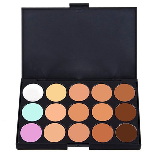 15 Culori Khaki Concealer / contur Ud / Mat / Sclipici Anticearcăn / Natural Faţă Paletă Machiaj Cosmetic