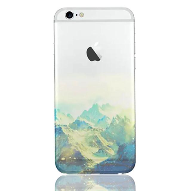 hoesje Voor iPhone 6s Plus / iPhone 6 Plus / iPhone 6s Ultradun / Doorzichtig / Patroon Achterkant Landschap Zacht TPU