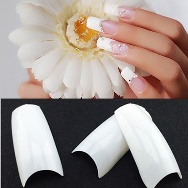 500,50PCSx10 Sizes Mixed 500parça Plastik Kozmetikler Soyut Klasik Düğün Günlük için parmak