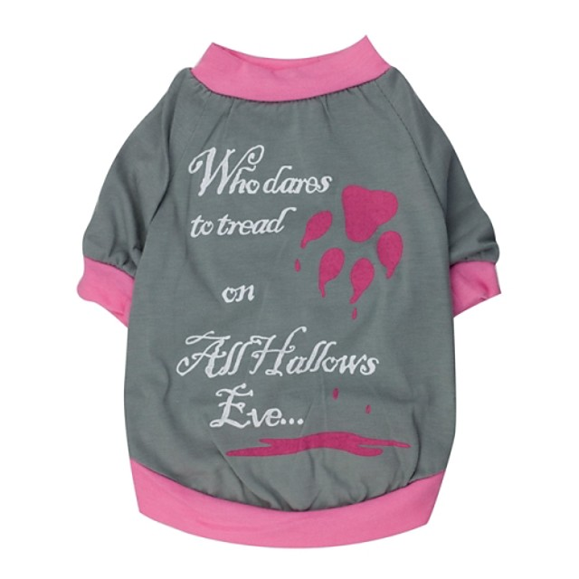 Pisici Câine Tricou Cosplay Îmbrăcăminte Câini Haine pentru catelus Ținute pentru câini Gri / Roșu Roz Costume pentru fată și câine băiat Bumbac 32