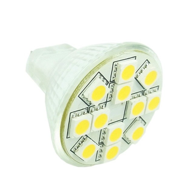 Sencart 1.5 w led spot 3500/6000/6500 lm gu4 mr11 12 led beads smd 5050 dimmable decorativ cald alb rece alb alb natural 12 v / rohs
