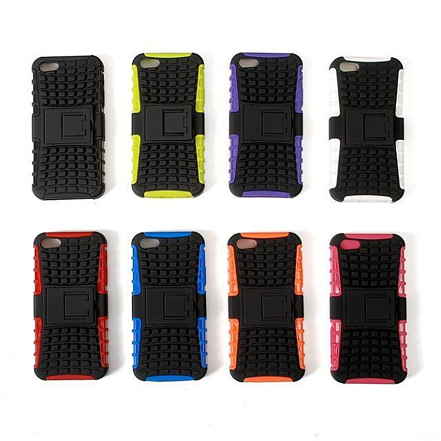 Funda Para iPhone 5 / Apple iPhone SE / 5s / iPhone 5 Antigolpes / con Soporte Funda Trasera Armadura Dura TPU