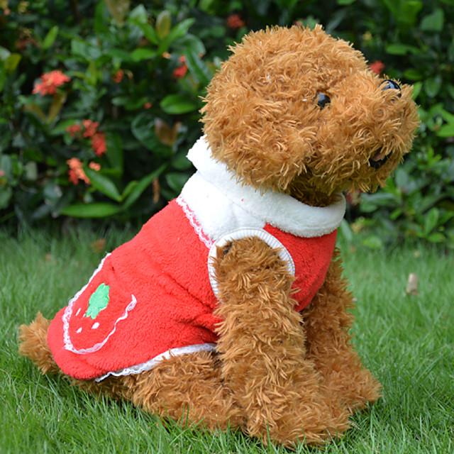 Собака Плащи Зима Одежда для собак Одежда для щенков Одежда Для Собак Красный Оранжевый Костюм для девочки и мальчика-собаки Хлопок S M L XL