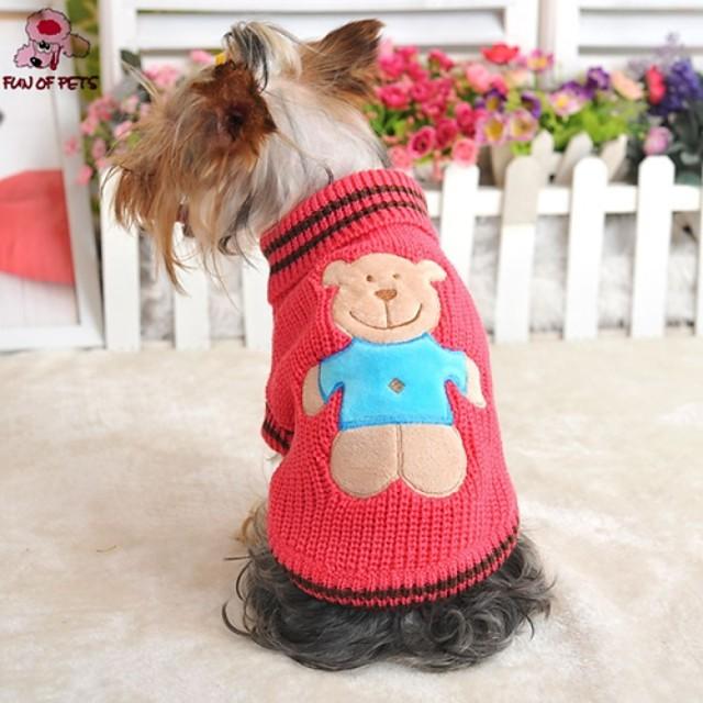 قط كلب البلوزات ملابس الجرو كارتون الكوسبلاي الزفاف الشتاء ملابس الكلاب ملابس الجرو ملابس الكلب أصفر أحمر أخضر كوستيوم للفتاة والفتى الكلب XXS XS S M L