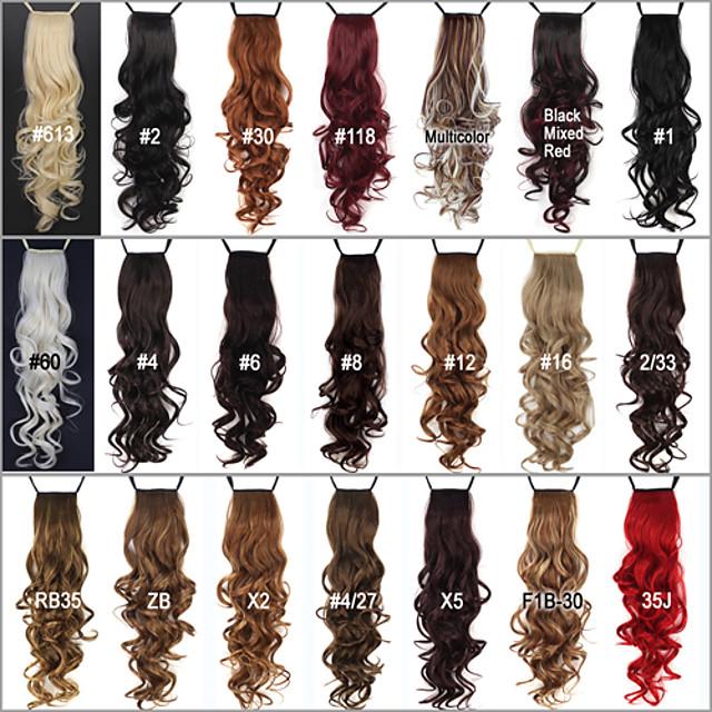 Coadă de cal Fir de păr Buclat Clasic Păr Sintetic 24 inch Extensie de păr Zilnic