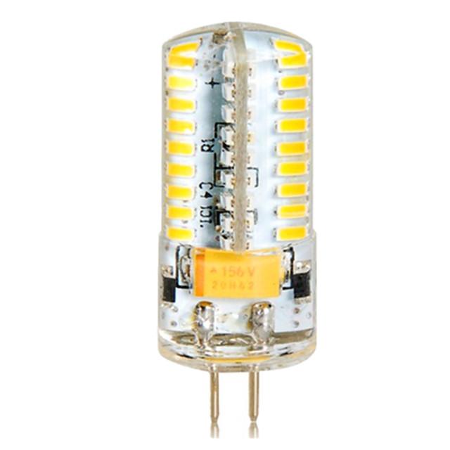 1 buc 6.5 W Becuri LED Corn 650 lm G4 T 72 LED-uri de margele SMD 3014 Alb Cald Alb Rece 12 V 24 V / 1 bc / RoHs