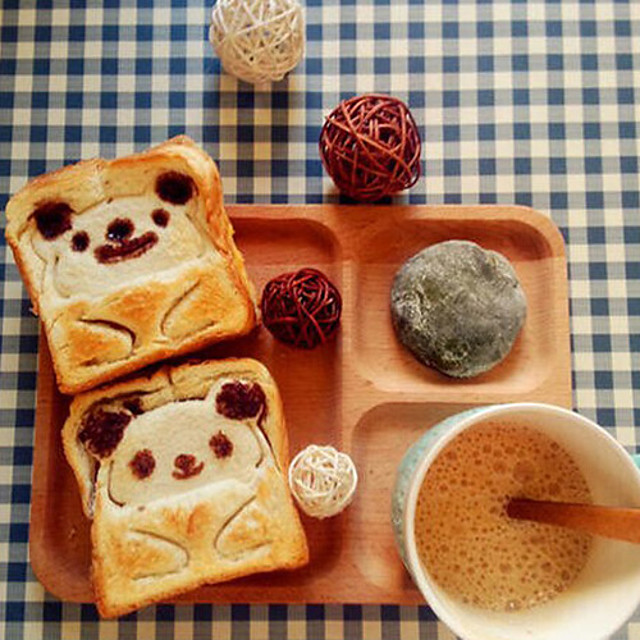 Cartoon Tier Gesicht Toast-Sandwich Schneide Bär Frosch panda Sushi-Reis Plastikform (set of 3)