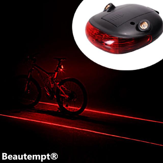 Laser LED Lumini de Bicicletă Iluminat Bicicletă Spate lumini de securitate luminile din spate Ciclism montan Bicicletă Ciclism Rezistent la apă Rezistent la Impact Laser Baterie de litiu Baterie