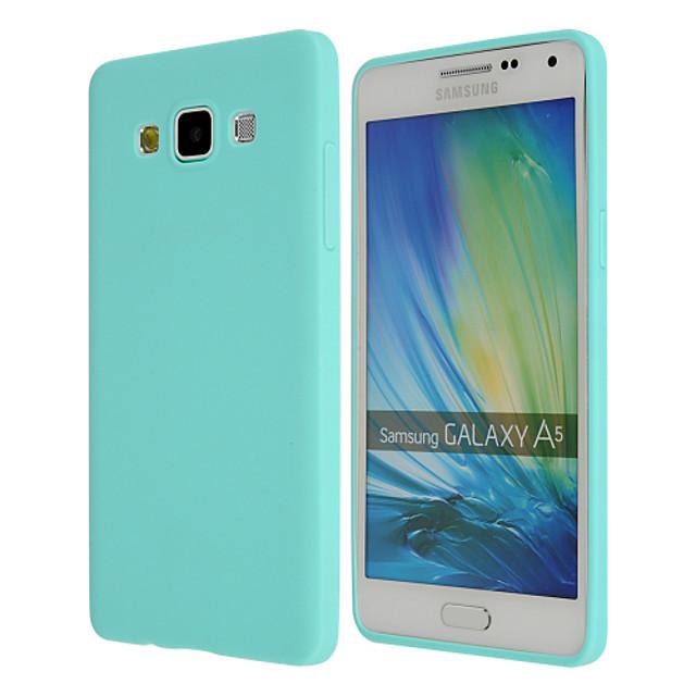 Кейс для Назначение SSamsung Galaxy A8 / A7 / A5 Ультратонкий Кейс на заднюю панель Однотонный ТПУ