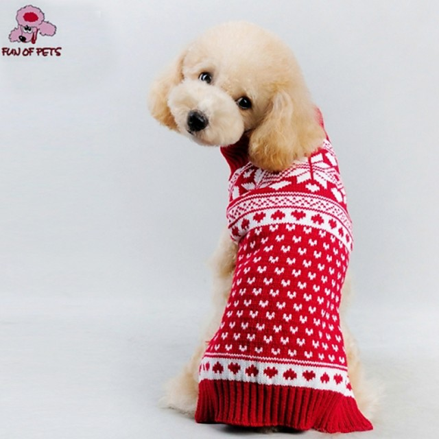 قط كلب المعاطف البلوزات ملابس الجرو قلب الكوسبلاي عيد الميلاد الأماكن المفتوحة الشتاء ملابس الكلاب ملابس الجرو ملابس الكلب أحمر كوستيوم للفتاة والفتى الكلب مادة مختلطة XXS XS S M