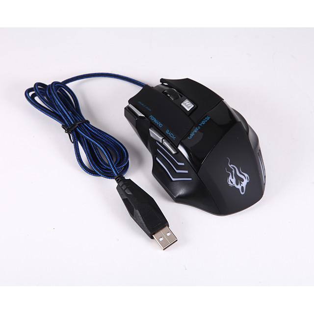 Cablu mouse-ul pentru jocuri DPI ajustabil iluminare din spate 800/1200/1600/2400