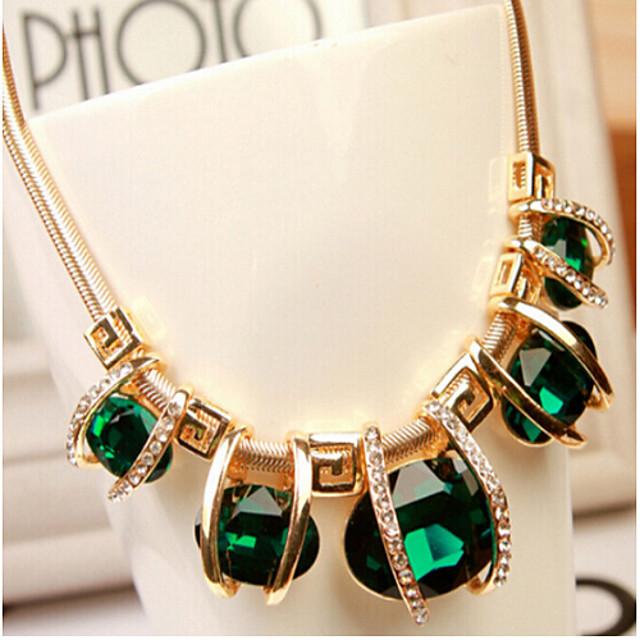 Mulheres Cristal Gargantilhas Luxo Europeu Fashion Avó Imitações de Diamante Liga Cor Ecrã Colar Jóias Para