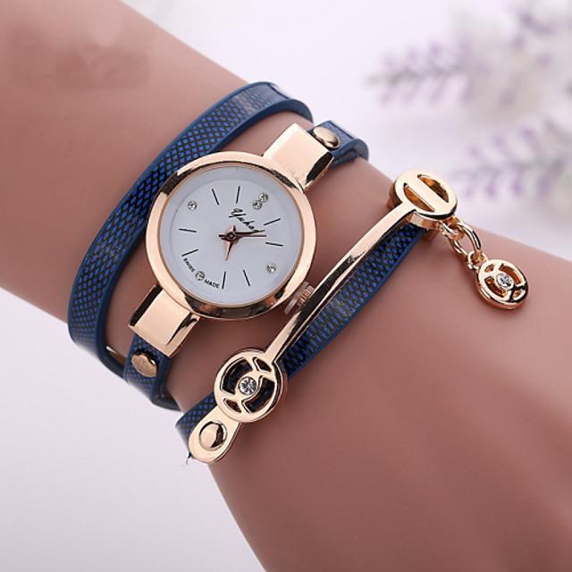 Pentru femei femei Ceas Brățară ceasul cu ceas Quartz Wrap Casual Ceas Casual Analog Alb Negru Rosu / Piele PU Matlasată / Un an / imitație de diamant / Un an / Tianqiu 377