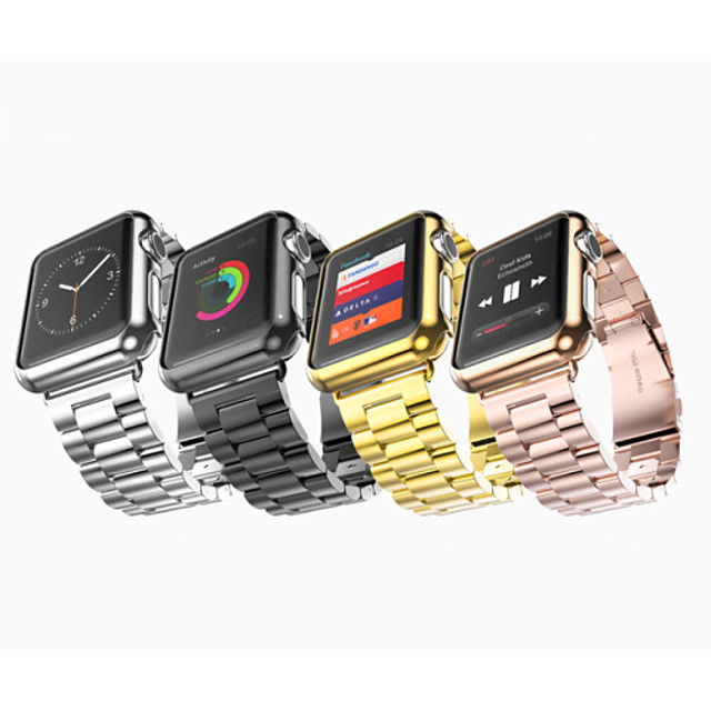 Ремешок для часов для Серия Apple Watch 5/4/3/2/1 Apple Бабочка Пряжка Нержавеющая сталь Повязка на запястье