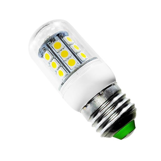 JIAWEN 1 buc 2.5 W 150-200 lm E26 / E27 Becuri LED Corn T 27 LED-uri de margele SMD 5050 Alb Cald 220-240 V