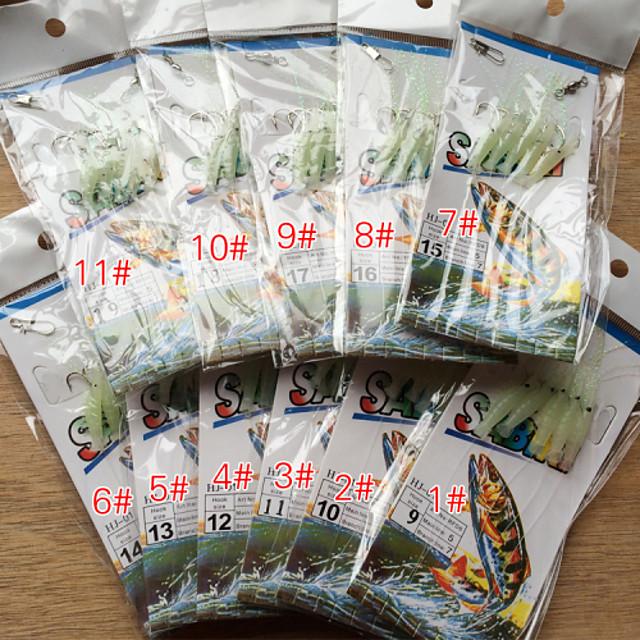5 pcs Specialitate Hook Cârlige de Pescuit Thin Hang-Nail Pescuit mare / Pescuit cu Muscă / Aruncare Momeală Oțel inoxidabil / Fier Uşor de Folosit / Pescuit la Copcă / Pescuit de Apă Dulce