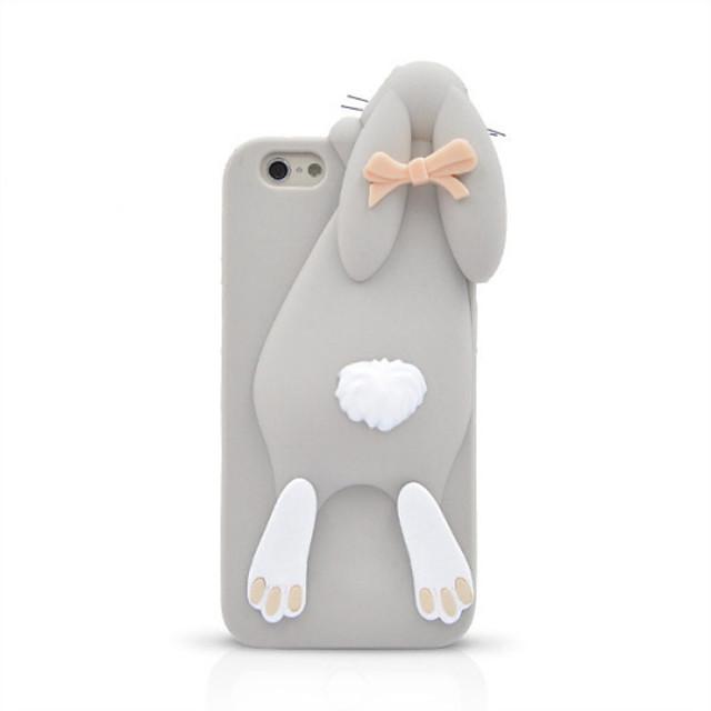 Case Kompatibilitás Apple iPhone 8 / iPhone 8 Plus / iPhone 6 Plus Ütésálló Fekete tok 3D figura Puha Szilikon mert iPhone 8 Plus / iPhone 8 / iPhone 7 Plus