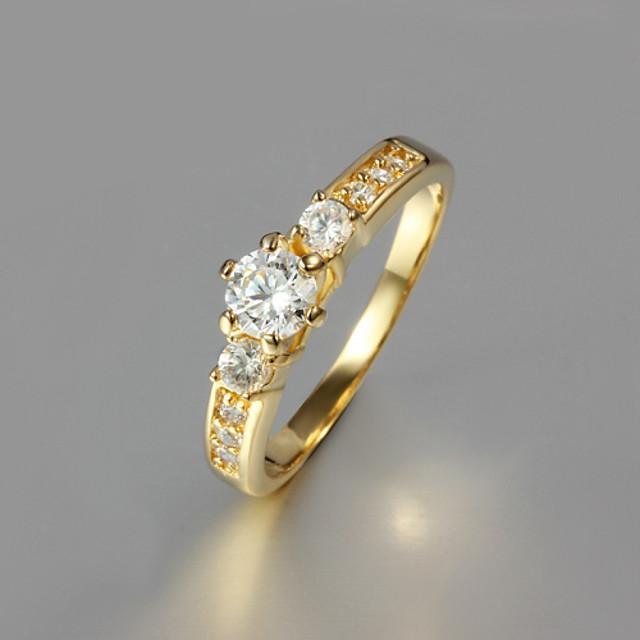 Bandring Gouden Verguld Modieus 6 7 8 9 / Dames / Zirkonia
