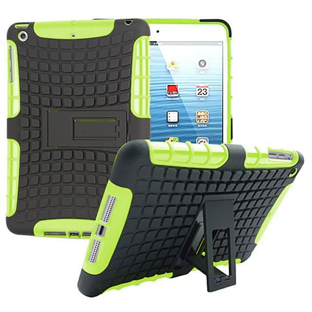 telefono Custodia Per Apple Per retro iPad Mini 3/2/1 Resistente agli urti Con supporto Armatura PC