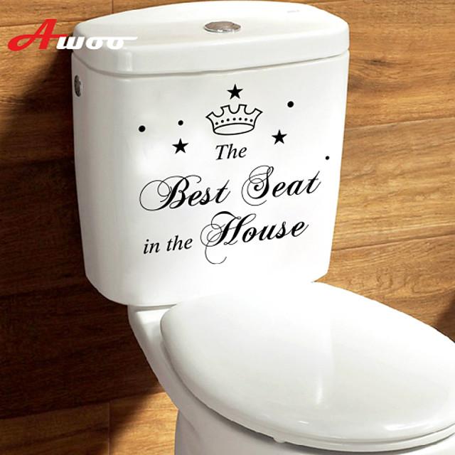 Paysage / Animaux Stickers muraux Autocollants avion Autocollants toilettes, Vinyle Décoration d'intérieur Calque Mural Toilettes Décoration / Amovible / Repositionable