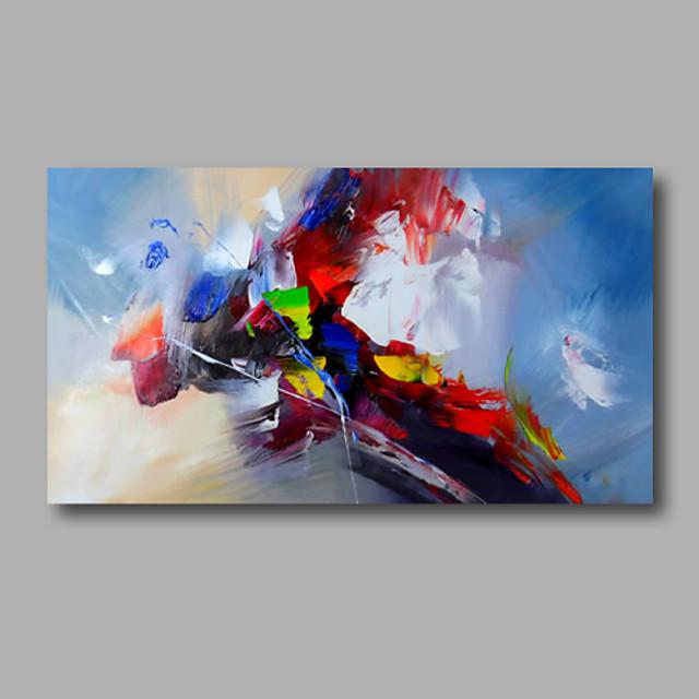 Hang-malované olejomalba Ručně malované - Abstraktní Moderní Obsahovat vnitřní rám / Válcované plátno / Reprodukce plátna