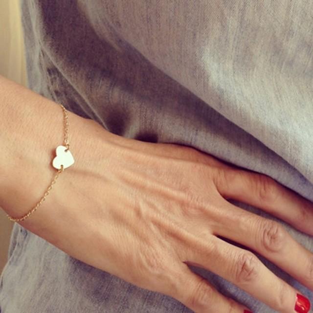 Pentru femei Brățări cu Talismane Inimă Iubire Plin de graţie femei Simplu stil minimalist Modă Aliaj Bijuterii brățară Auriu / Argintiu Pentru Cadouri de Crăciun Petrecere Zilnic Casual