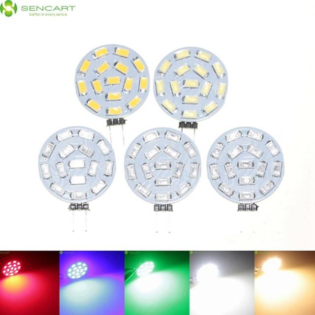 SENCART 5pcs 7 W Spoturi LED 700-900 lm G4 MR11 15 LED-uri de margele SMD 5630 Intensitate Luminoasă Reglabilă Alb Cald Alb Natural Roșu 12 V 24 V 9-30 V / 5 bc / RoHs