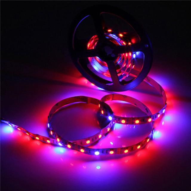 Zdm 5m Bande lumineuse LED Ruban LED étanche ip65 5050 4 rouge + 1 bleu spectre complet conduit élèvent la lumière 300leds led lampes de bande pour les plantes grandissant aquarium éclairage 1pc