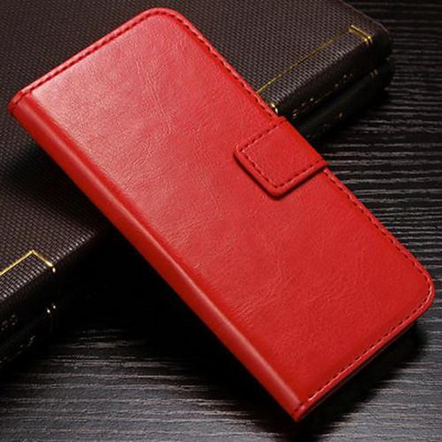 Maska Pentru Apple iPhone 8 Plus / iPhone 8 / iPhone 7 Plus Portofel / Titluar Card / Cu Stand Carcasă Telefon Mată Greu PU piele