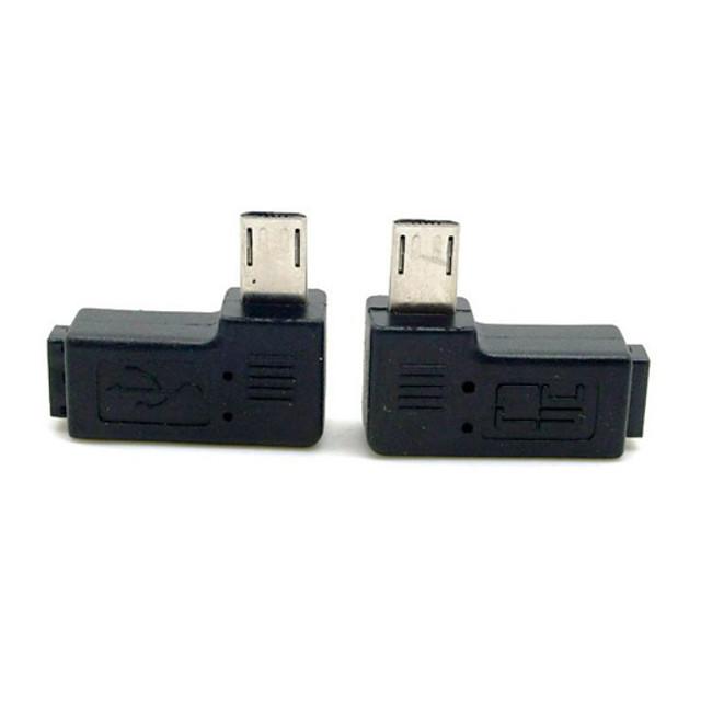cy® stânga și la dreapta de cotitură masculin micro USB la feminin adaptor micro USB pentru telefon mobil