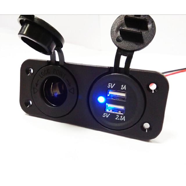 LOSSMANN Грузовик / Автомобиль Автомобильное зарядное устройство 2 USB порта для 5 V