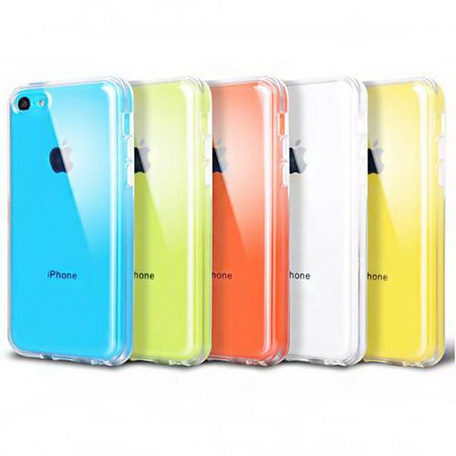 Ultradunne Transparant Siliconen Terug hoesje voor iPhone 5C