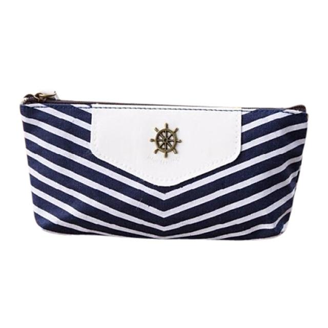 marina dungi stil stilou creion caz cosmetice face până depozitare sac de monede husă portofel pungă albastru