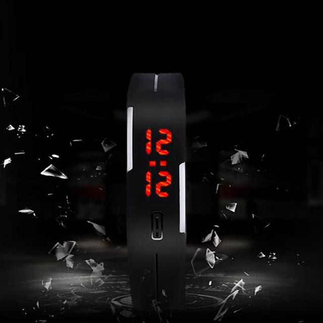 رجالي ساعة رياضية رقمي سحر شاشة لمس رقمي أبيض أسود أرجواني / سيليكون / سنة واحدة / LED / SODA AG4