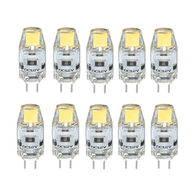 10 pièces 1 W LED à Double Broches 100 lm G4 T 1 Perles LED COB Intensité Réglable Blanc Chaud Blanc Froid 12 V