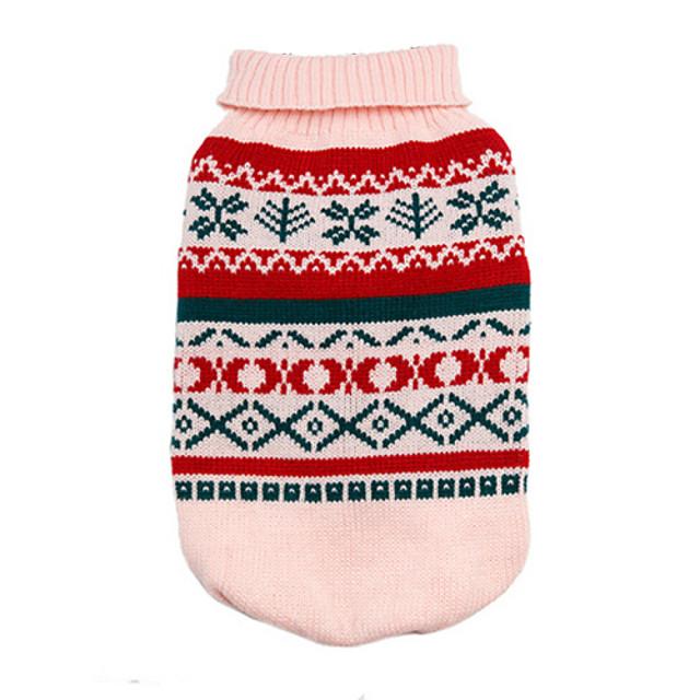 Hund Pullover Welpenkleidung Geometrisch Modisch Winter Hundekleidung Welpenkleidung Hunde-Outfits Gelb Rosa Grün Kostüm für Mädchen und Jungen Hund Baumwolle XS S M L XL