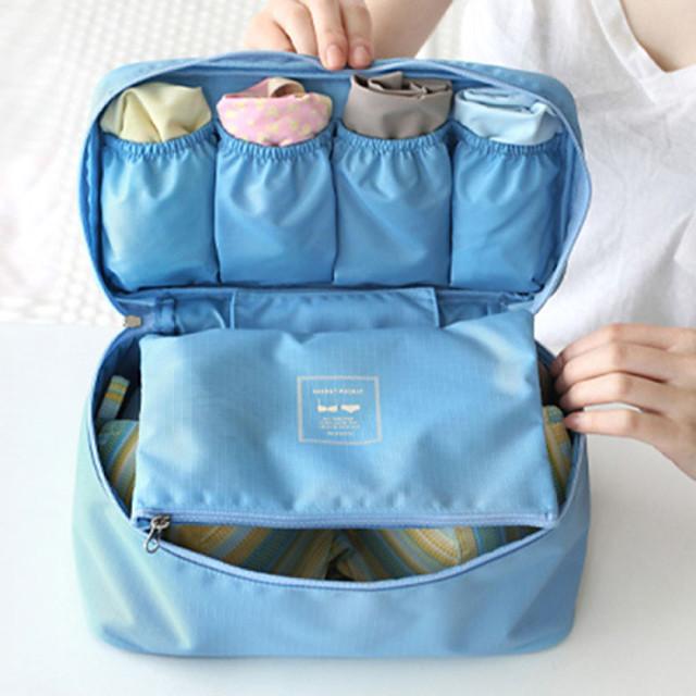1pc Packing Organizer Travel Toiletry Bag Portable Travel Storage มัลติ-ฟังก์ชั่น เดินทาง ผ้า ของขวัญ สำหรับ /